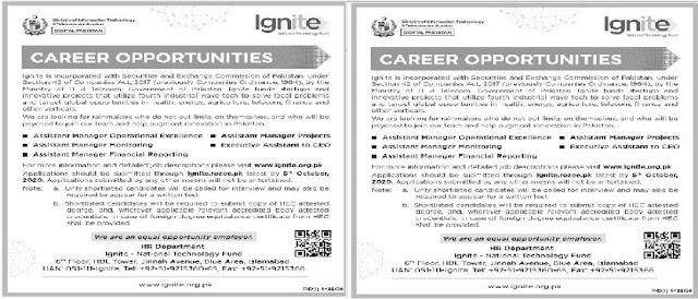 Ministry Of Information Technology & Telecommunication Digital Pakistan  Jobs 2020 Apply Now