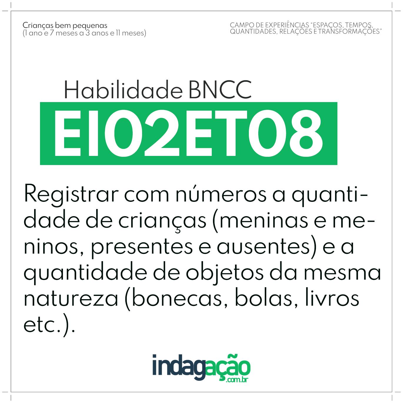 Habilidade EI02ET08 BNCC