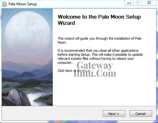 Cara Install Browser Palemon di Windows 7/8/10 Terbaru - Gatewayilmu.com