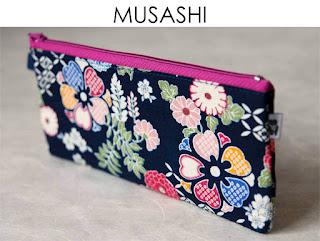 Federmäppchen Musashi aus japanischen Stoffen von Noriko handmade, handgemacht, Einzelstück, Unikat, Design, Stiftetui, Mäppchen, Federmappe, Etui