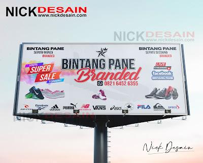 Contoh Desain Spanduk, baliho, backrop Billboard Live Facebook - Percetakan Murah Tanjungbalai