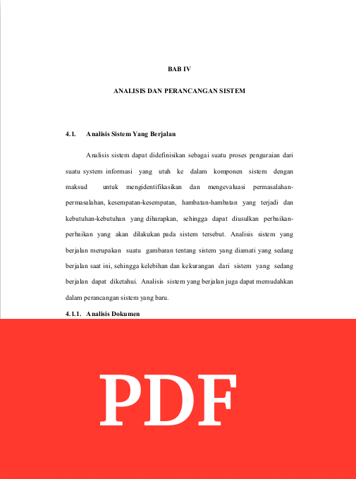 Contoh Bab 4 Skripsi Dengan Judul Cuti Pegawai Arsip Org