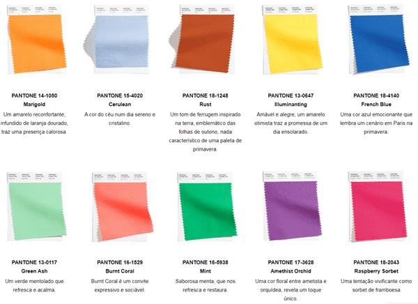 paleta de cores para madrinhas 2021