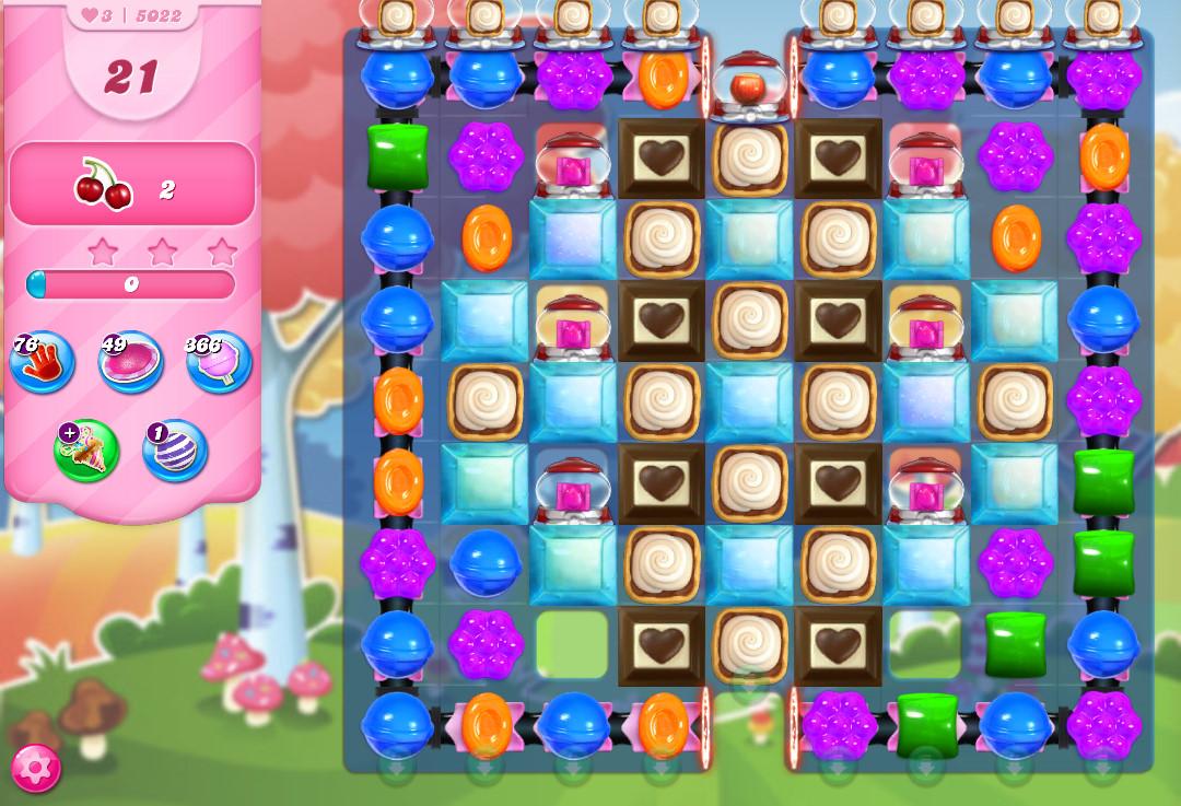 Candy Crush Saga level 5022
