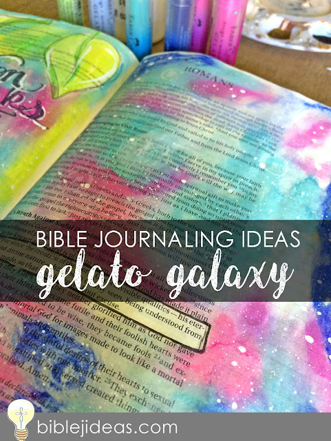 how to create galaxy art in your bible