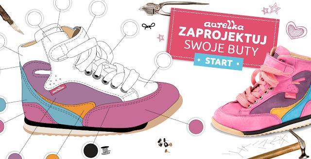 Polskie obuwie dziecięce Aurelka - zaprojektuj wymarzone buty dla malucha