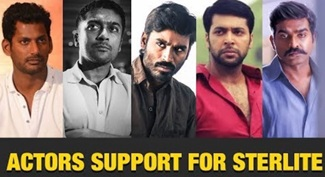 Actors Support Sterlite Protest via Social Media | Kollywood Celebrities Support