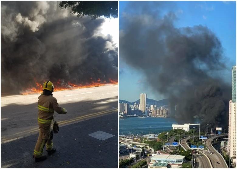 kebakaran di Hong Kong
