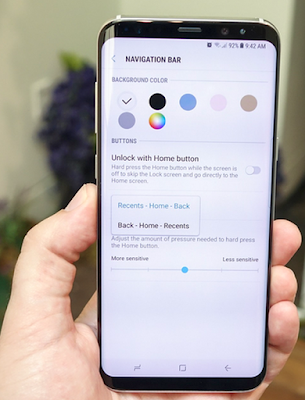Samsung Galaxy S8 Home Screen Settings
