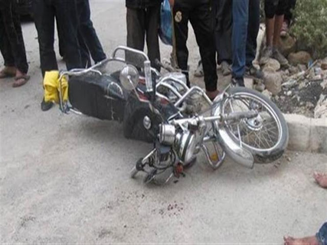 إصابة طالب فى حادث انقلاب دراجه بخارية بسوهاج