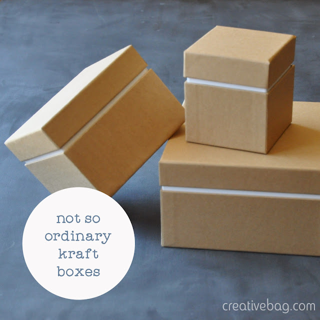 two piece kraft and white gift boxes | Creative Bag