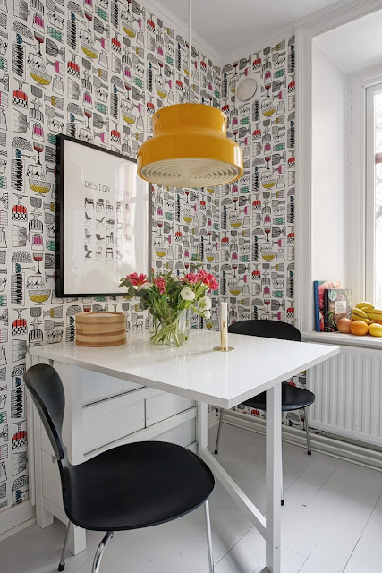 Yes, a Wall of Wallpaper in The Kitchen 2