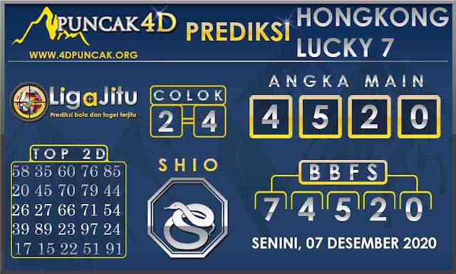 PREDIKSI TOGEL HONGKONG LUCKY 7 PUNCAK4D 07 DESEMBER 2020