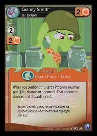 My Little Pony Granny Smith, Jar Judger Canterlot Nights CCG Card
