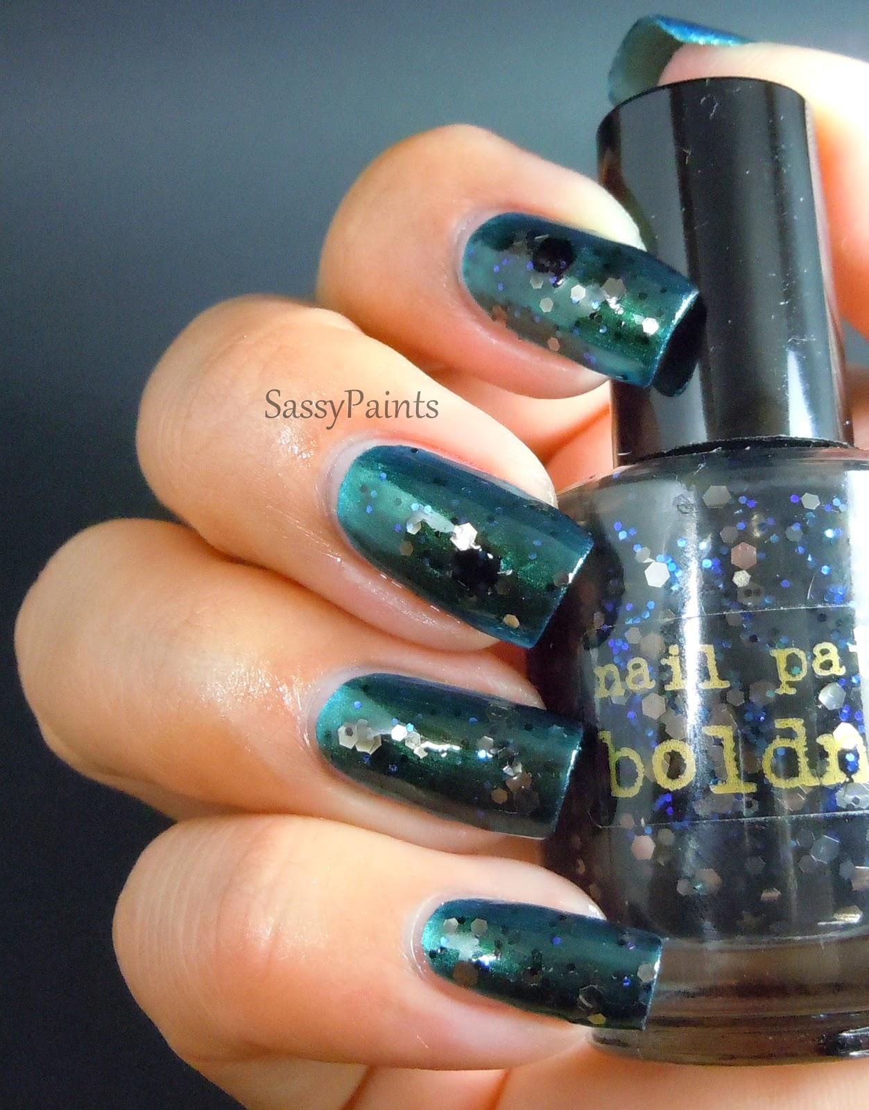 "Sassy Paints: Nail Pattern Boldness ""Hades"""