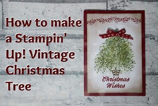 Tutorial for Vintage Christmas Tree Card