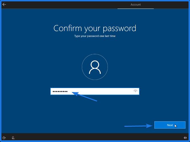 Confirm Windows 10 Password