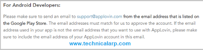 Applovin Approval Official Statement - Technical Arp