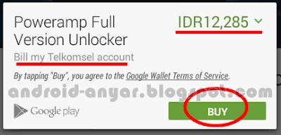 Cara mudah membeli aplikasi premium Android resmi dengan pulsa terbaru