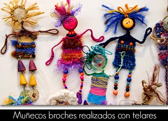 Broches Pin Dolls Munecos con Mini-Telares