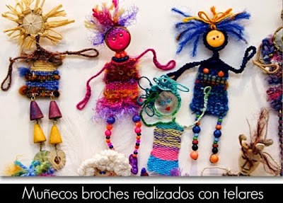 Broches Pin Dolls Muñecos con Mini-Telares