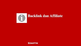 Backlink dan Affiliate