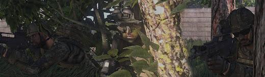 歩兵の顔に偽装を施したArma3 アドオン