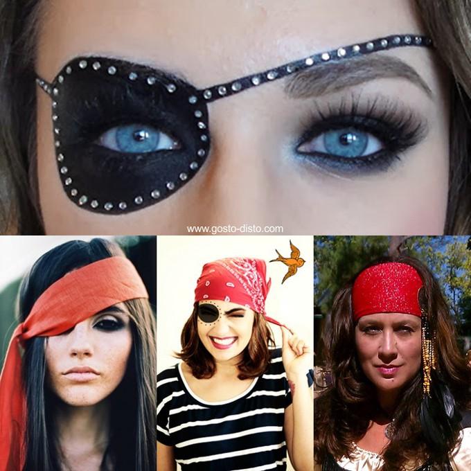 Pirata feminina fantasia improvisada para o carnaval