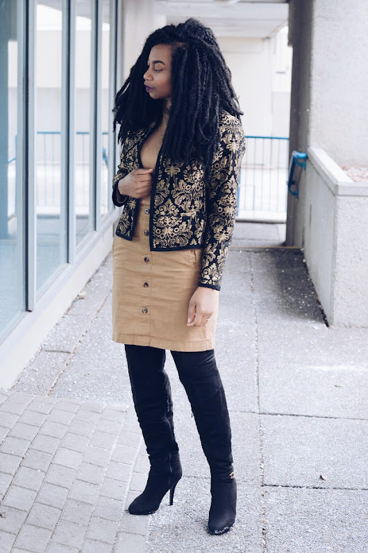 OOTD: Gold Demask Jacket
