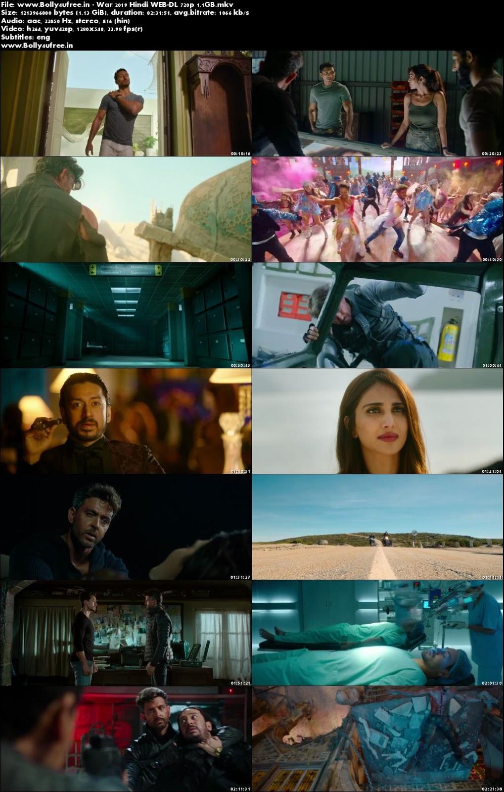 War 2019 Hindi Movie Download WEB-DL 1.1GB 720p