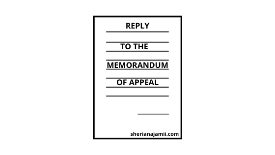 Sample Reply to the Memorandum of Appeal in District court, District land and Housing Tribunal and High court.