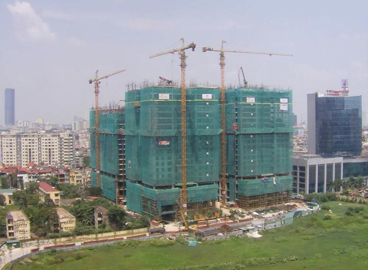 Dự án đang thi công chung cư Home city Trung Kính