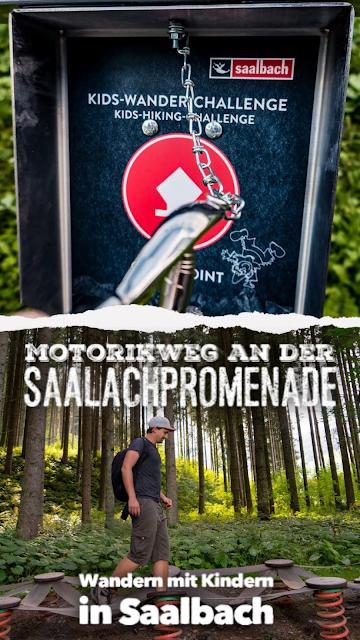 Motorikweg an der Saalachpromenade  Wandern mit Kindern in Saalbach 21