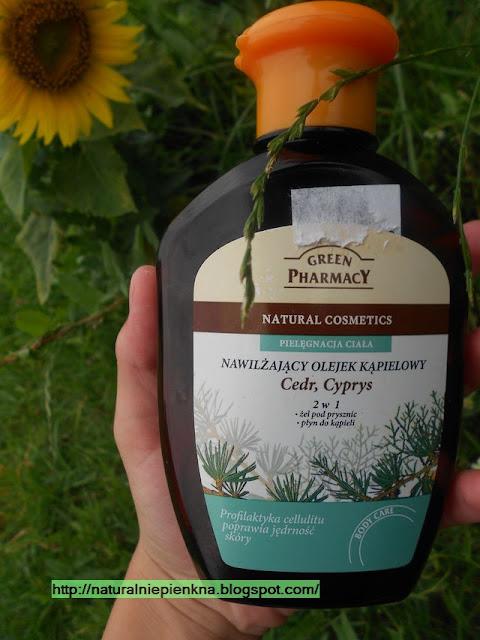 Nawilżający olejek kąpielowy Cedr,Cyprys Green Pharmacy