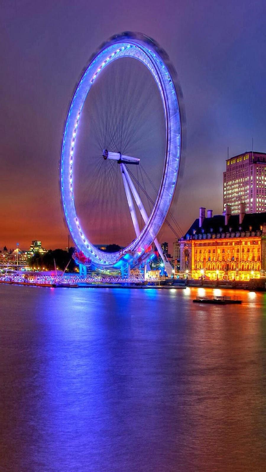 Wallpaper Android Kincir Bercahaya Biru London