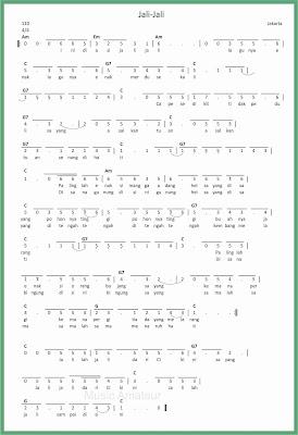 not angka lagu jali jali
