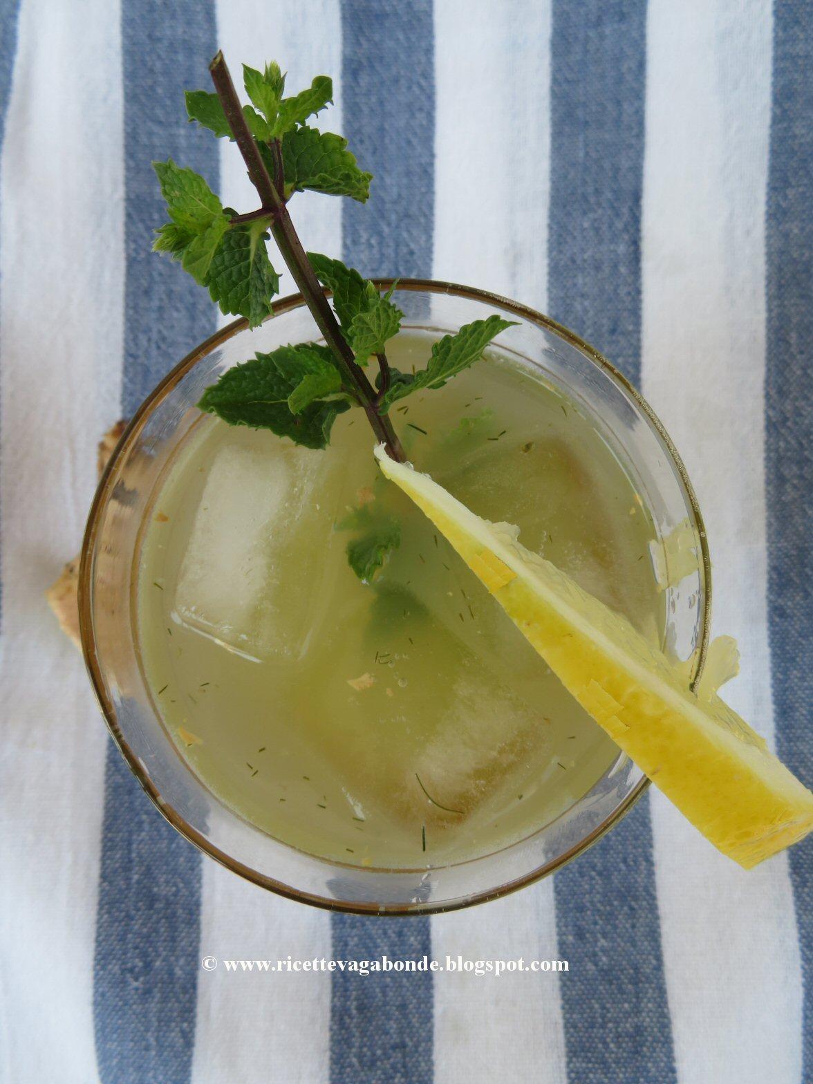 Ricetta Limonata Con Menta.Ricette Vagabonde Limonata Verde Siriana Con Menta E Zenzero