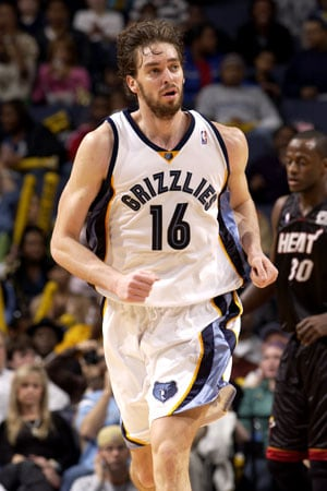 Memphis Grizzlies Gasol pau stats,trade,career