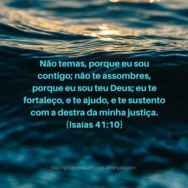 Imagem com versículo de boa noite gospel - Isaías 41.10