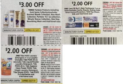 pantene and tide coupons