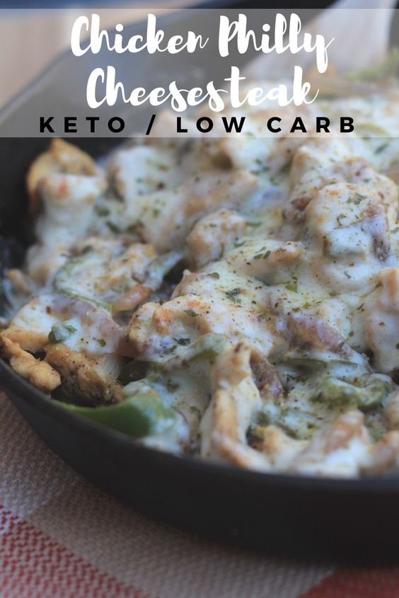 Low Carb Chicken Philly Cheesesteak (Keto)