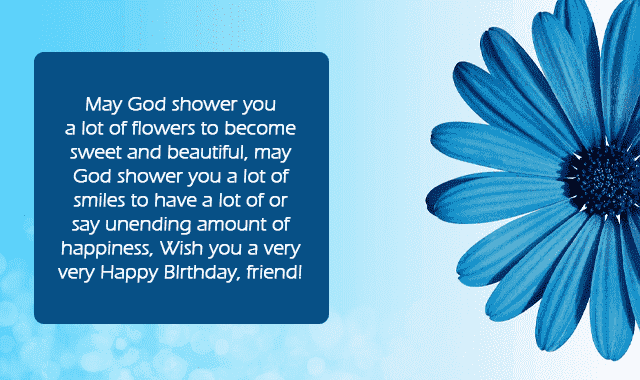 touching birthday message to a best friend in english