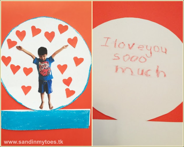 Love Globe - A personalized card kids can make to say 'I love you'!
