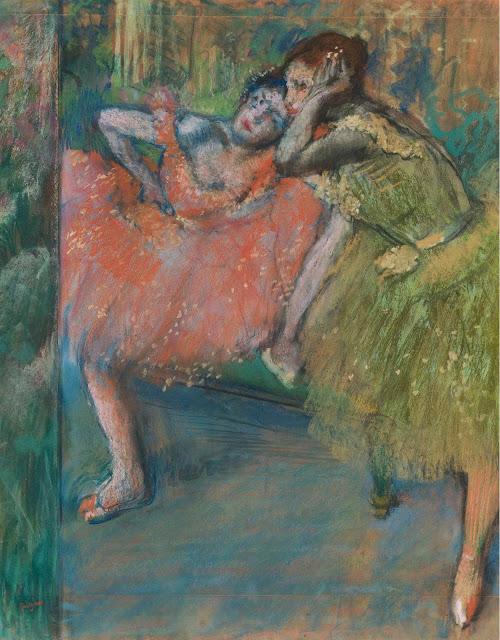 Эдгар Дега - Танцовщицы в комнате отдыха (1901)