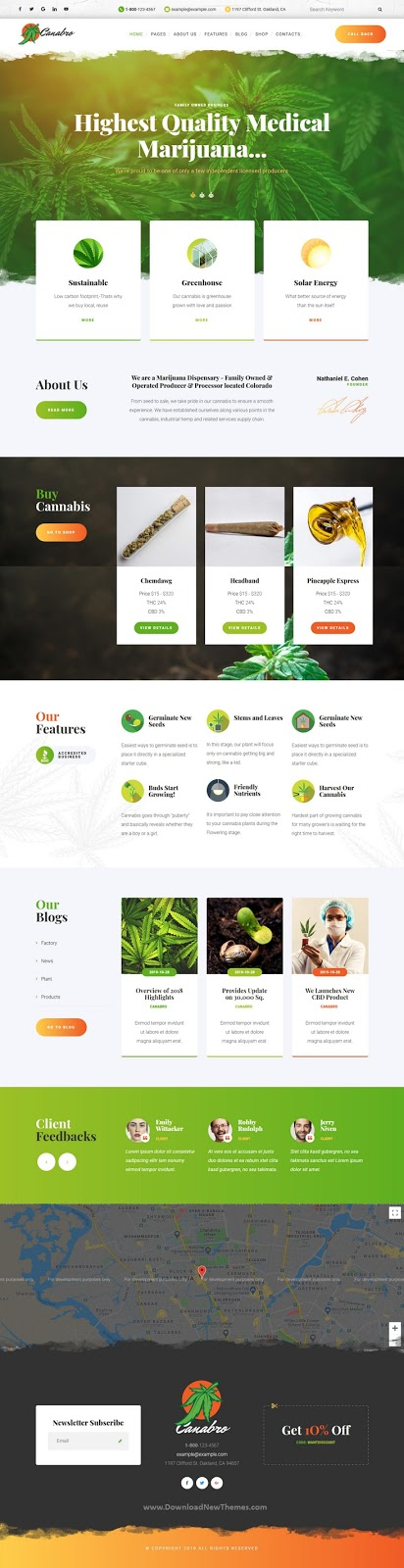 Best Medical Marijuana Joomla Template