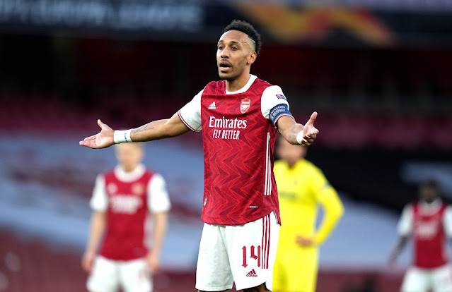 Arsenal forward Aubameyang vs Villarreal