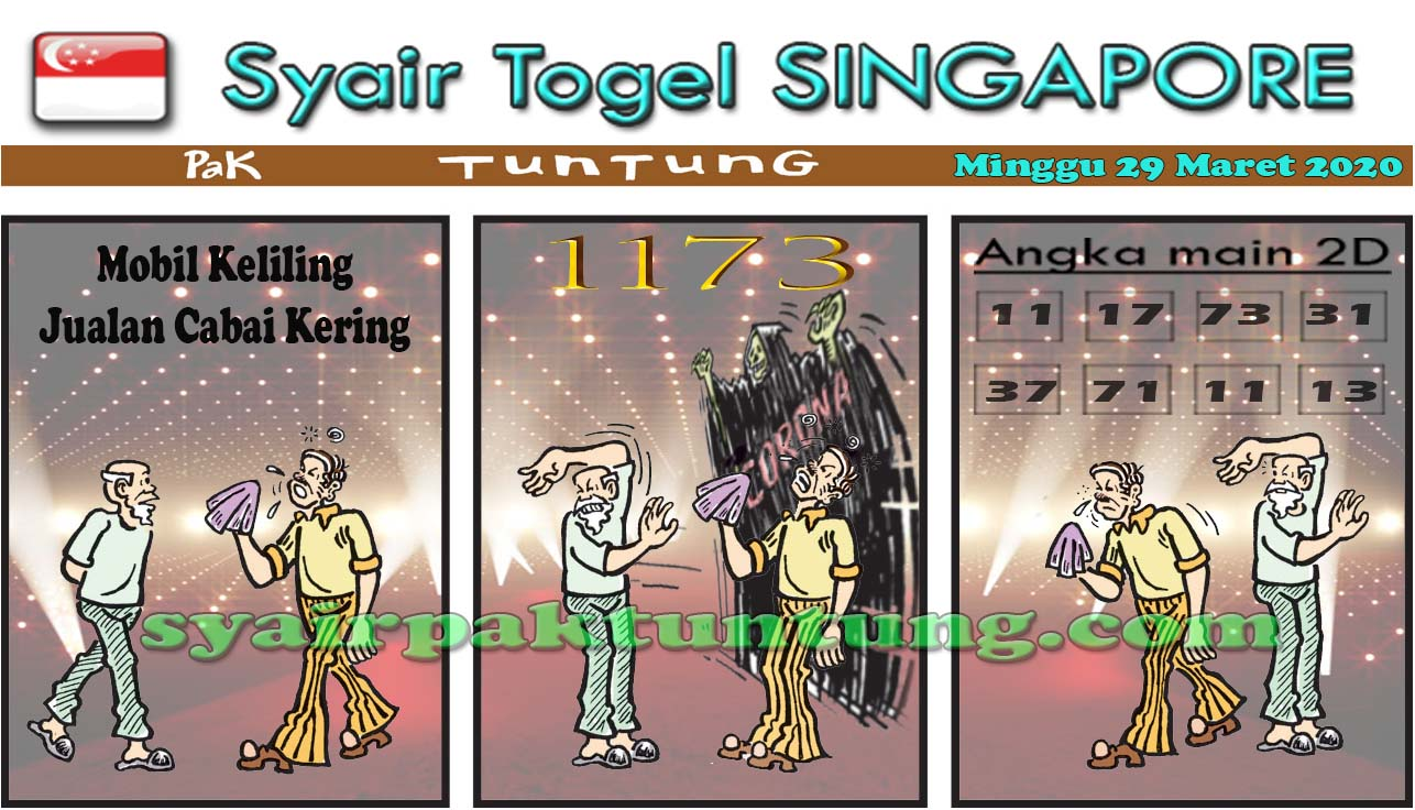 Prediksi Togel Singapura Minggu 29 Maret 2020 - Prediksi SGP Pak Tuntung