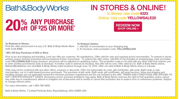 Bath and body works coupons 2019