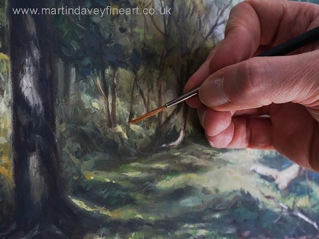 painting a tree closeup Martin Davey