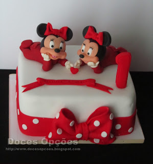 bolos aniversário bebé minnie mouse